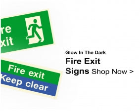 Shop For Glow In The Dark Fire Exit Signs
