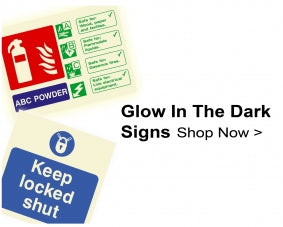 Glow in the Dark Fire Safety Signs