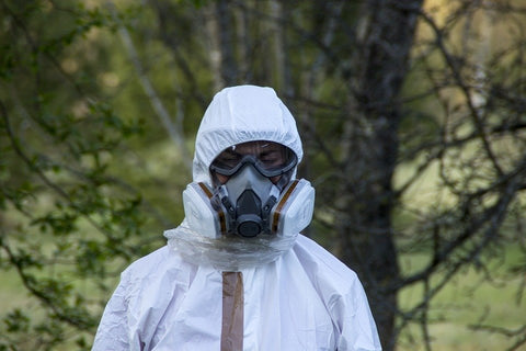 hazardous waste suit and goggles protection | shop now at The Sign Shed