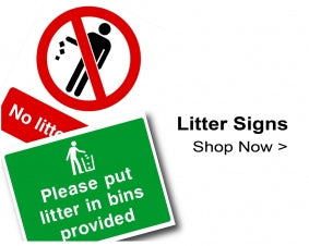 Shop For Litter Signs