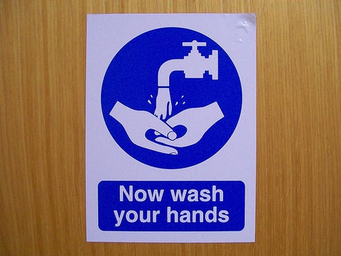 now wash your hands sign | shop now at The Sign Shed