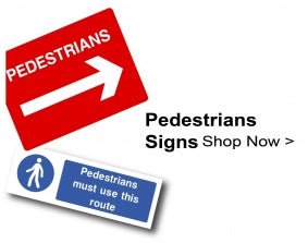 Shop For Pedestrians Signs