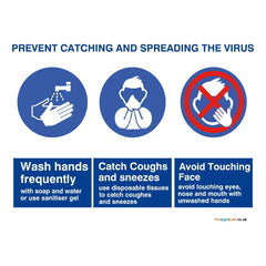 Free Prevent Catching and Spreading Virus Sign Download