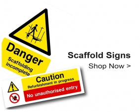 Shop For Construction Site Scaffold Signs