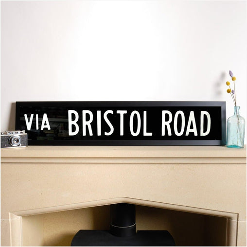 Original Framed Bus Destination Blind - Bristol Road-Home & Garden > Decor > Novelty Signs-The Sign Shed-The Sign Shed