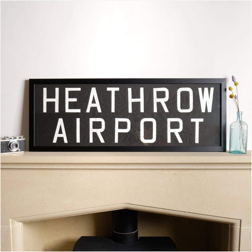 Original Framed Bus Destination Blind - Heathrow Airport-Home & Garden > Decor > Novelty Signs-The Sign Shed-The Sign Shed