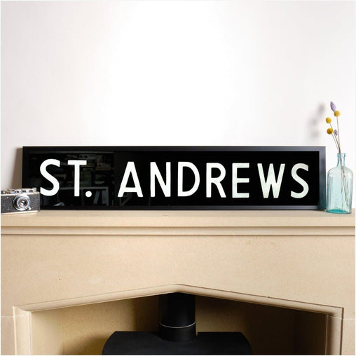 Original Framed Bus Destination Blind - St Andrews-Home & Garden > Decor > Novelty Signs-The Sign Shed-The Sign Shed