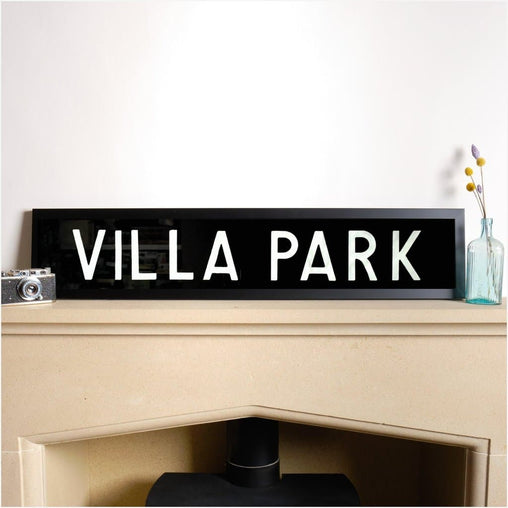 Original Framed Bus Destination Blind - Villa Park-Home & Garden > Decor > Novelty Signs-The Sign Shed-The Sign Shed