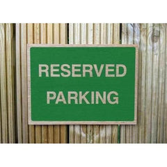 Wooden Reserved Parking Sign | Natural Oak Wood Sign-Parking Signs & Permits-The Sign Shed-220x300mm-Landscape-Pre-drilled holes in 4 corners-The Sign Shed