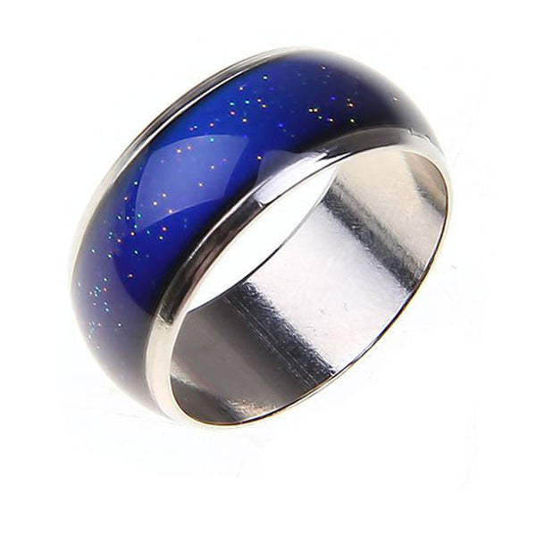 Elegant Blue Stainless Steel Ring