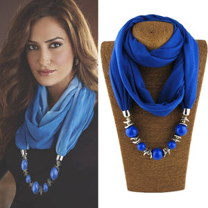Unique Bohemian Neckerchief (Scarf + Beads Necklaces)