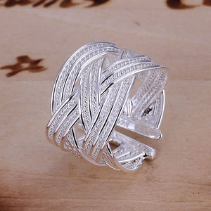 S925 Silver Plated Open Ring
