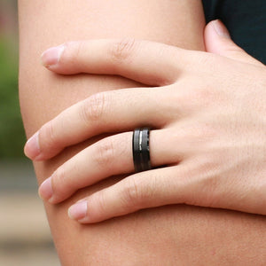 Titanium Carbide Black Color Ring