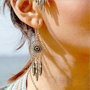 Long Chain Boho Earrings
