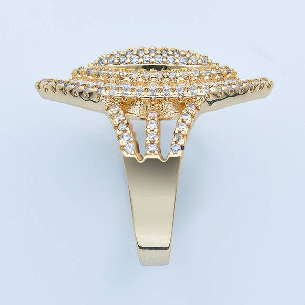 Luxury Olive Shape Cubic Zircon Ring