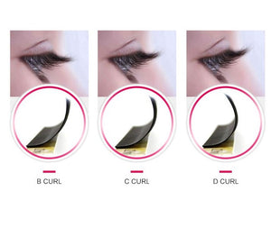 Eyelashes extensions curl guide - lashop.ch - online shop Switzerland