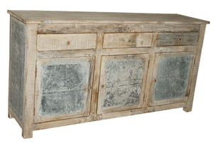 Galvanized Sideboard Sunbleached