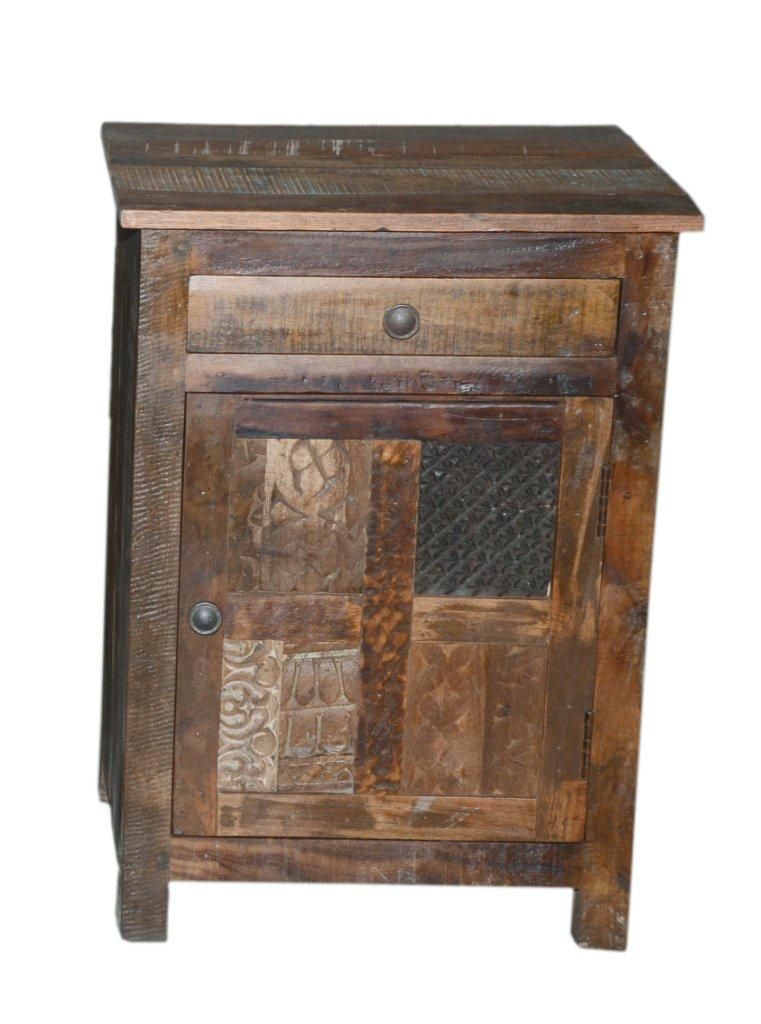 Block Print Bedside Table