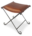 Leather Folding Stool