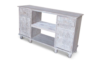 Vintage Open Shelf Sideboard