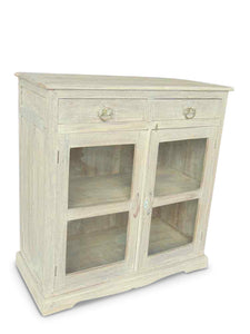 2 Drawer Glass Cabinet