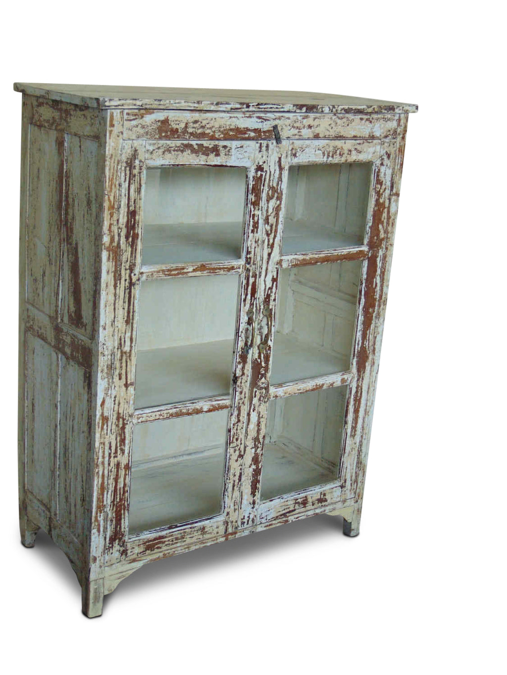 Rustic Glass Cabinet