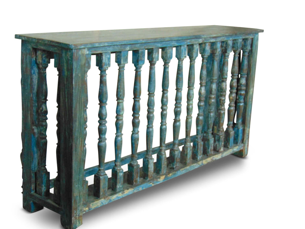 Antique Panel Console Table