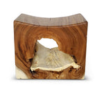 Chamcha Wood Stool - Natural Finish