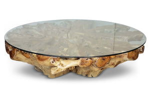"Teak Root Coffee Table - 60"" Round"