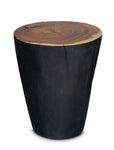 Chamcha Core Side Table - Natural/Burnt Black