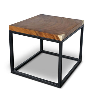 Square Cocktail Table - Gun Metal Base