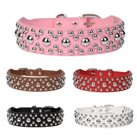 Best Adjustable Spiked Studded Leather Dog Collars - Cart Hunter