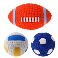Rubber Rugby, Football, Volley Ball Dog Toys - Cart Hunter
