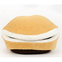 Soft Windproof Hamburger Pet Small Dog Beds - Cart Hunter