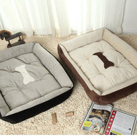Bone Printed Large Pet Bed