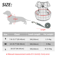 Small Dog Harness and Leash Set With Bow knot Mesh Padded - Cart Hunter