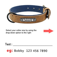 Personalized Leather Dog Collars - Cart Hunter