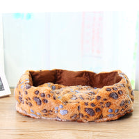 Soft Washable Footprint Pet Dog Beds - Cart Hunter