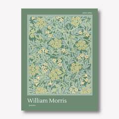 william morris jasmine green wall art