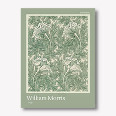 william morris tulip wall art