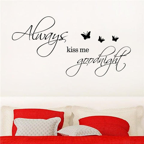 Always kiss me good night wall sticker
