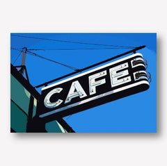 Cafe Road sign wall art