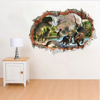3d dinosaur wall sticker