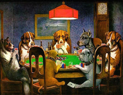 COOLIDGE DOGS PLAYING POKER