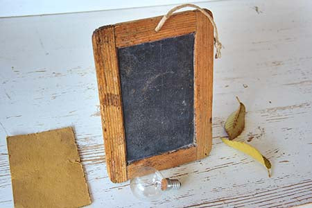 blank frame with chalk board