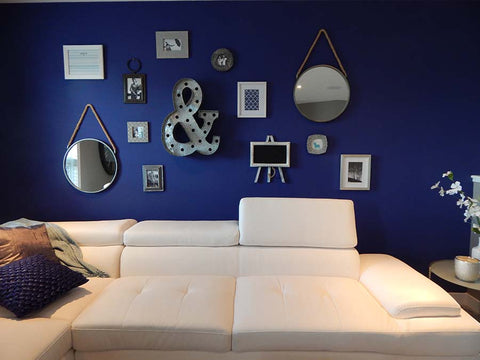 mirrored gallery wall
