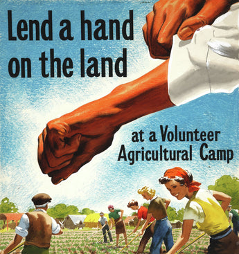 Lend a Hand on the Land | Free USA Shipping | Printed on Giclee Photo Rag