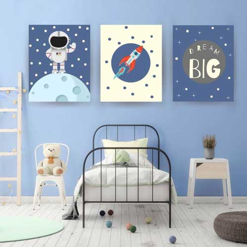 space theme gallery wall art - free usa shipping - www.wallart.biz