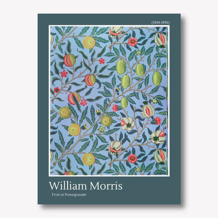 William Morris - Fruit or Pomegranate wall art  | FREE USA SHIPPING |www.wallArt.Biz