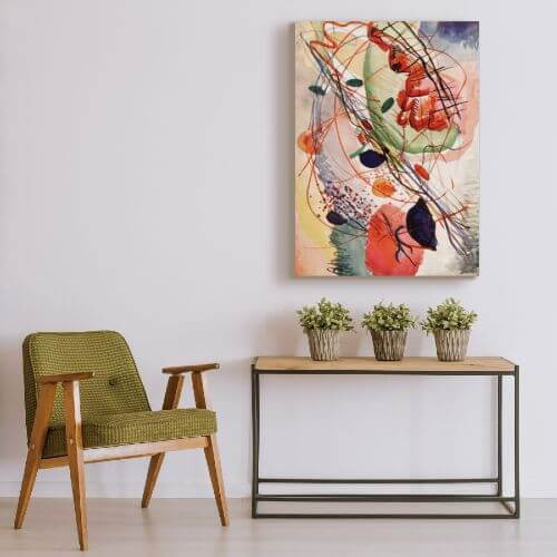 abstract art for living room by Wassily Kandinsky  | FREE USA SHIPPING | WallArt.Biz